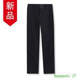 bossini男裝-修身卡其長褲01黑