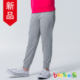 bossini女童-針織束口棉褲01淺灰