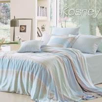 《KOSNEY 半醒》雙人100%天絲TENCEL六件式兩用被床罩組