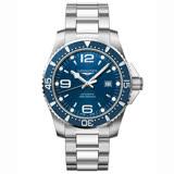 LONGINES浪琴 Conquest 系列潛水機械錶-藍x銀/44mm L38414966