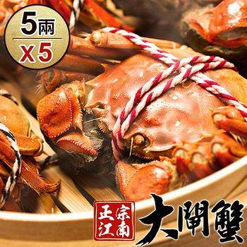 正宗江南LV級大閘蟹*5隻組-死蟹包退(5兩±10%/隻)
