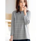 日本預購-portcros羅紋九分袖金蔥條紋針織上衣(共七色/M-3L)