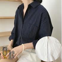 【Maya Collection】2色寬版美式休閒風格襯衫20170919-4