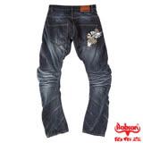 BOBSON 男款翻轉系列立體摺痕褲管翻轉牛仔褲(1773-52)