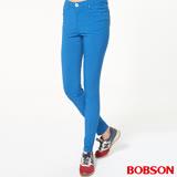 【BOBSON】女款高腰彩色強彈力緊身褲(8088-53)