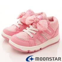 日本Carrot機能童鞋-蝴蝶結甜心款(KC4334粉-15-19cm)
