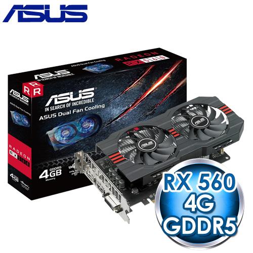 ASUS 華碩 RX560-4G 顯示卡《原廠註冊四年保固》