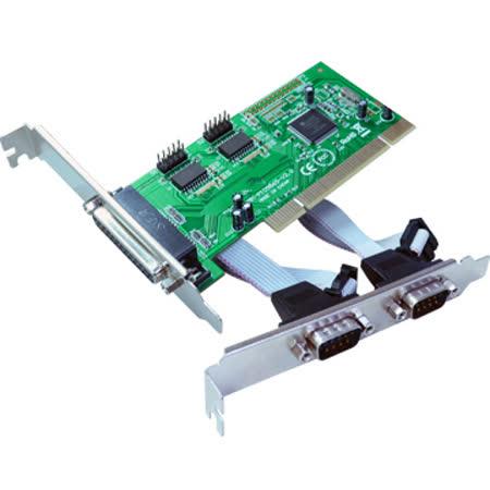 伽利略 PCI 2 Port RS232+1 Port Parallel 擴充卡(PTRP02A)
