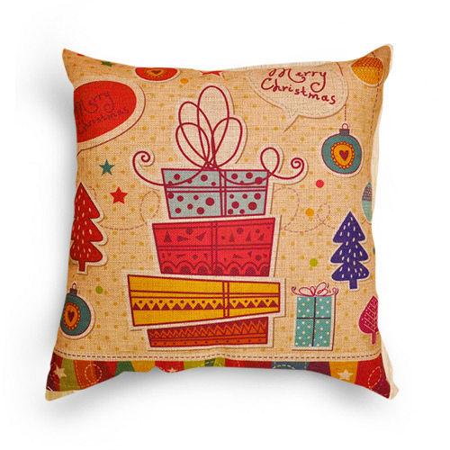 義大利Fancy Belle《聖誕禮物》- 麻織精美靠墊45*45
