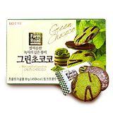 LOTTE 田園巧克力薄餅-抹茶味(福利品) 87gx8入組