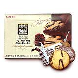 LOTTE 田園巧克力薄餅-牛奶味 87gx12入組送12包小雞麵