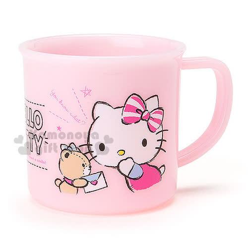 〔小禮堂〕Hello Kitty 日製塑膠小水杯~粉.半身.小熊.條紋蝴蝶結.200ml~
