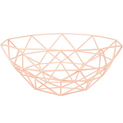 《DANICA》角格紋水果籃 蜜桃橘