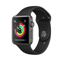 Apple Watch Series 3 GPS,38公釐銀色鋁金屬錶殼搭配薄霧灰色運動型錶帶 _ 【贈專用螢幕保貼+保護套】