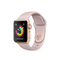 Apple Watch Series 3 GPS,38 公釐金色鋁金屬錶殼搭配粉沙色運動型錶帶 _ 【贈螢幕保貼+保護套】