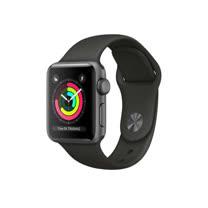 Apple Watch Series 3 GPS,38 公釐太空灰色鋁金屬錶殼搭配灰色運動型錶帶【贈專用螢幕保貼+保護套】