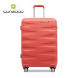 CONWOOD 義大利設計24吋拜耳PC材質輕量霧面行李箱(粉)