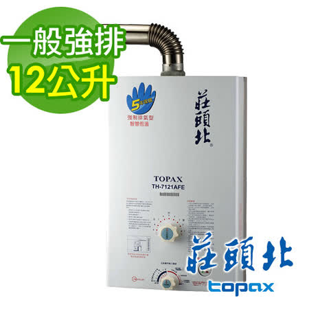 TOPAX 莊頭北 12L強制排氣型熱水器