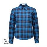 WINCEYS韓版純棉保暖格子襯衫-藍格CB16