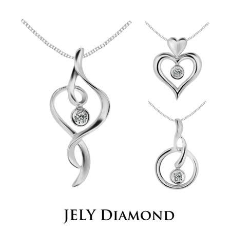 【JELY DIAMOND】3分天然鑽石墜鍊