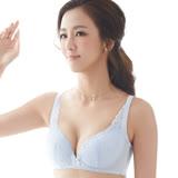 【思薇爾】舒棉Bra系列B-E罩無鋼圈杯模蕾絲包覆內衣(白霜灰)