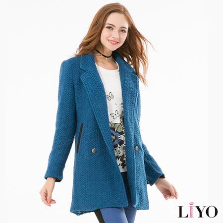 LIYO理優羊毛大衣長外套