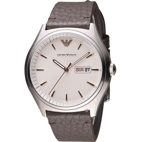 ARMANI 亞曼尼 紳士品味時尚腕錶 AR1999