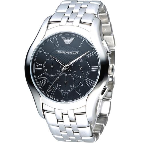 ARMANI 亞曼尼  Classic 羅馬假期計時腕錶 AR1786 黑