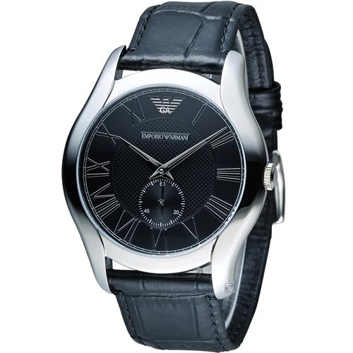 ARMANI 亞曼尼 羅馬時光時尚腕錶 AR1703 黑