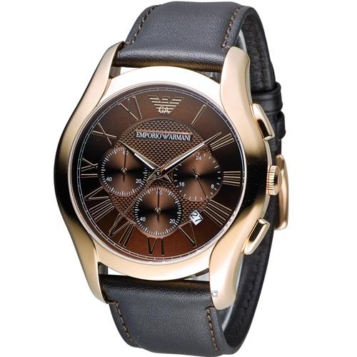 ARMANI 亞曼尼 Classic 羅馬假期計時腕錶 AR1701