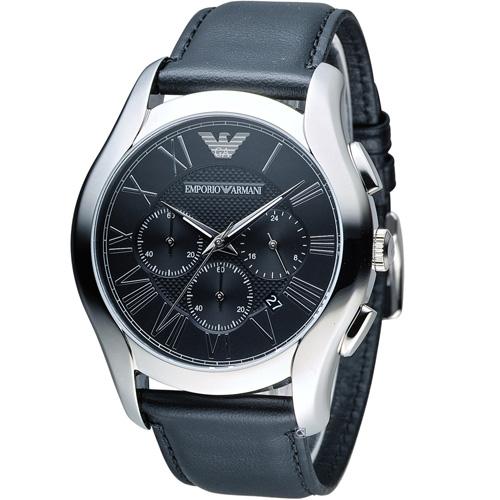 ARMANI 亞曼尼  Classic 羅馬假期計時腕錶 AR1700 黑