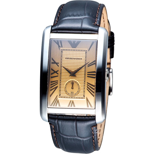 ARMANI 亞曼尼  經典時尚石英腕錶 AR1605 香檳色