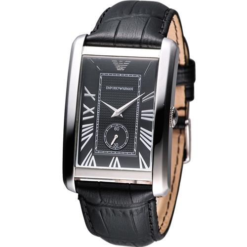 ARMANI 亞曼尼  俐落方形石英錶  AR1604