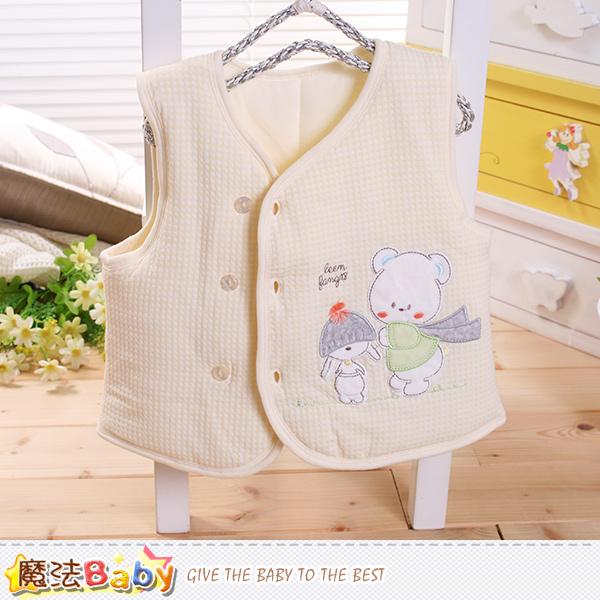 魔法Baby 嬰幼兒外套 專櫃款厚鋪棉極暖背心外套 k60267