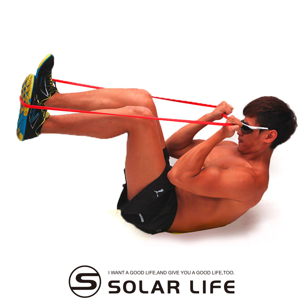 瑜珈伸展健身訓練環狀彈力帶紅色