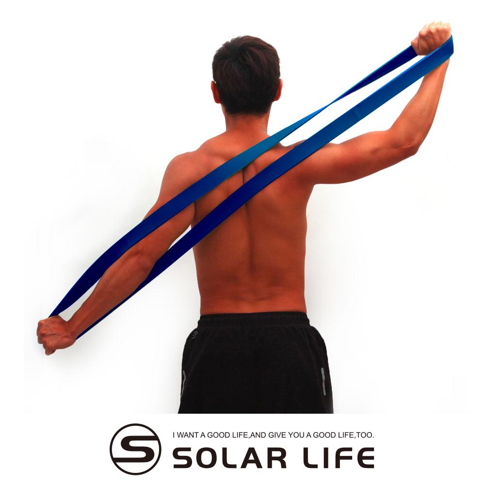 瑜珈伸展健身訓練環狀彈力帶藍色