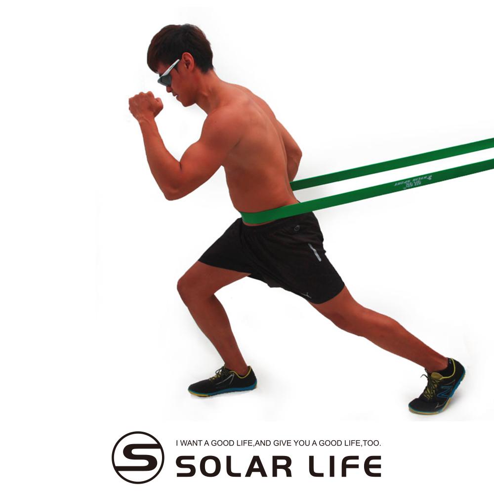 瑜珈伸展健身訓練環狀彈力帶綠色