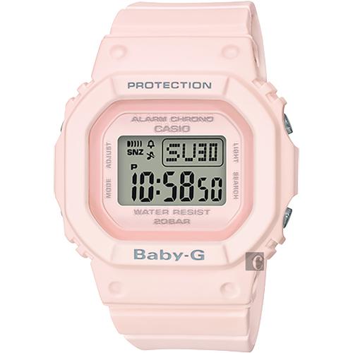 CASIO 卡西歐 Baby-G 人氣經典電子錶-櫻花粉 BGD-560-4DR