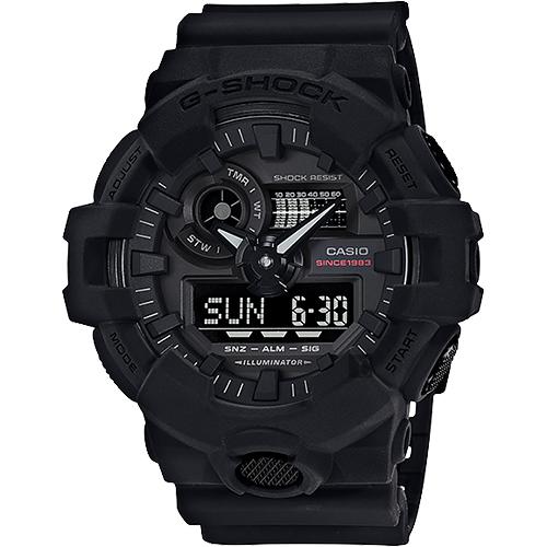 CASIO 卡西歐 G-SHOCK 35周年紀念錶款 宇宙大爆炸雙顯錶 GA-735A-1A