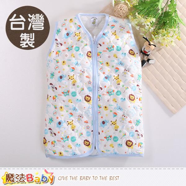 魔法Baby 嬰幼兒睡袍 台灣製厚鋪棉保暖背心睡袍 k60424