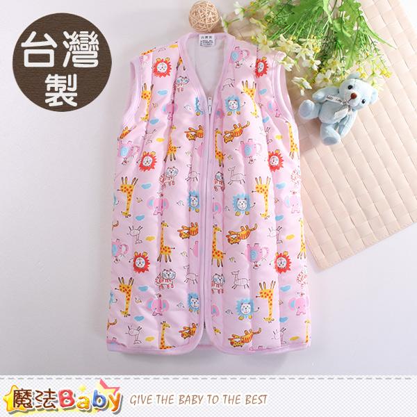 魔法Baby 嬰幼兒睡袍 台灣製厚鋪棉保暖背心睡袍 k60426