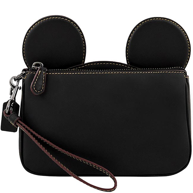 COACH Disney MICKEY造型手拿包/大型-黑色