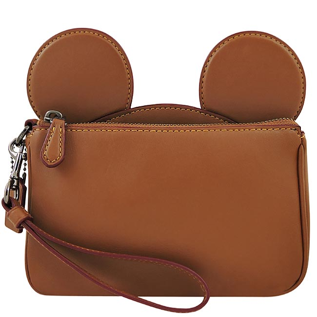 COACH Disney Mickey造型手拿包/大型-焦糖色