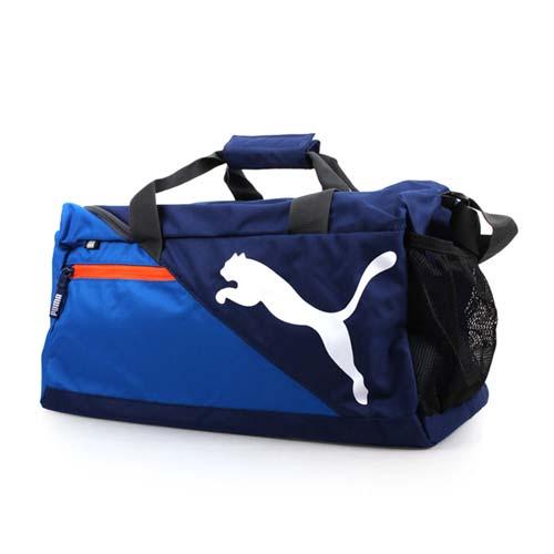 PUMA FNDMTL小型運動背袋-手提包 旅行包 肩背包 側背包 藍橘 F