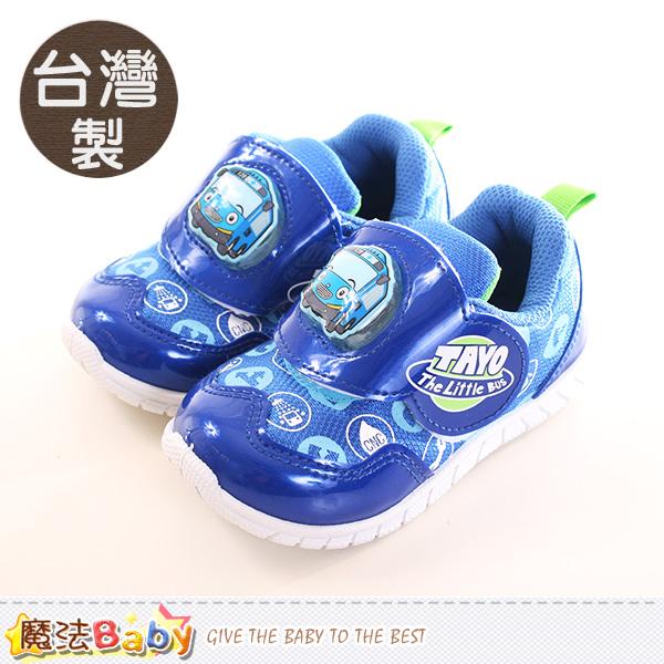 魔法Baby  男童鞋 台灣製TAYO小巴士正版閃燈運動鞋 sk0214
