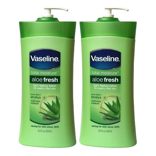 (超值二入) 進口Vaseline凡士林 蘆薈清香潤膚乳液-600ml