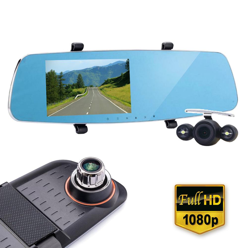 【IS愛思】RV-04XW 雙鏡頭後視鏡1080P高畫質行車紀錄器