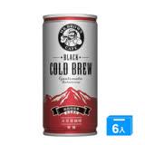 M-伯朗冷萃黑咖啡瓜地馬拉200ml*6