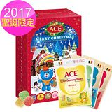 ACE ACE 聖誕驚喜 2017彩繪聖誕月曆禮盒1入+ACE軟糖隨手包1入 軟糖口味任選