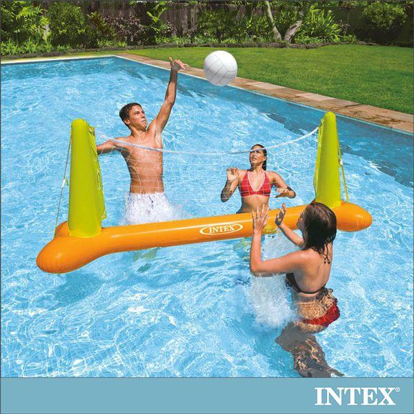 ~INTEX~兒童排球充氣玩具水上排球網架 56508